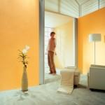 Wohnzimmer orange